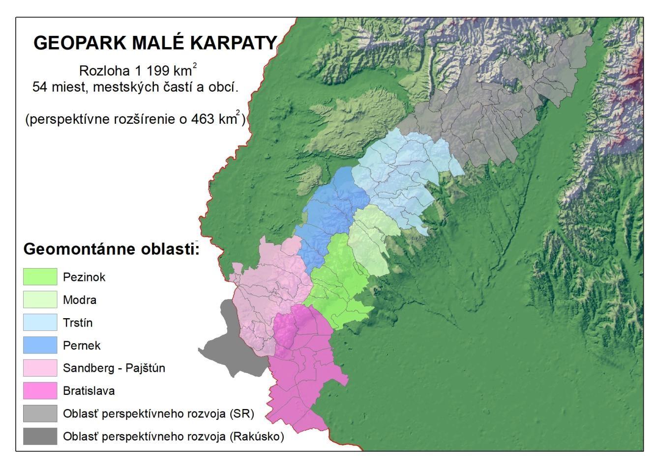 geopark malé karpaty mapa